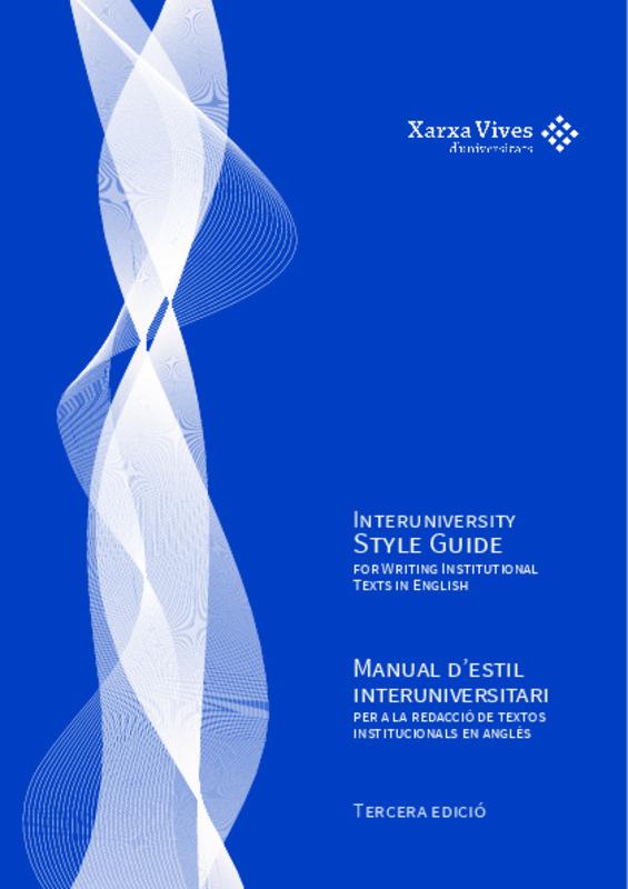 Manual d'estil interuniversitari: per a la redacció de
